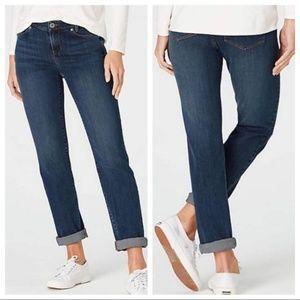 J. Jill Denim Slim Boyfriend Straight Leg Jeans 2